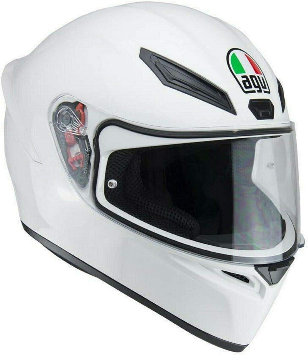 MOTORBIKE AGV K1 PLAIN SOLID FULL FACE MOTORCYCLE HELMET Adult Crash Biker Rider Scooter Sports Racing Touring Pinlock Ready Helmet