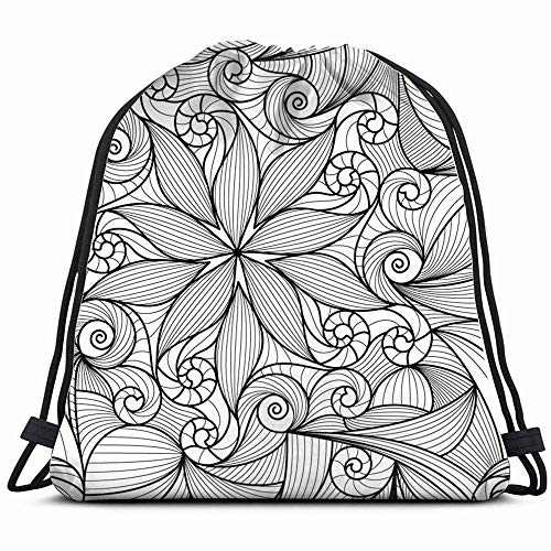 Abstract Texture Drawstring Backpack Gym Sack Lightweight Bag Water Resistant Gym Backpack For Women&Men For Sports,Travelling,Hiking,Camping,Shopping Yoga ()