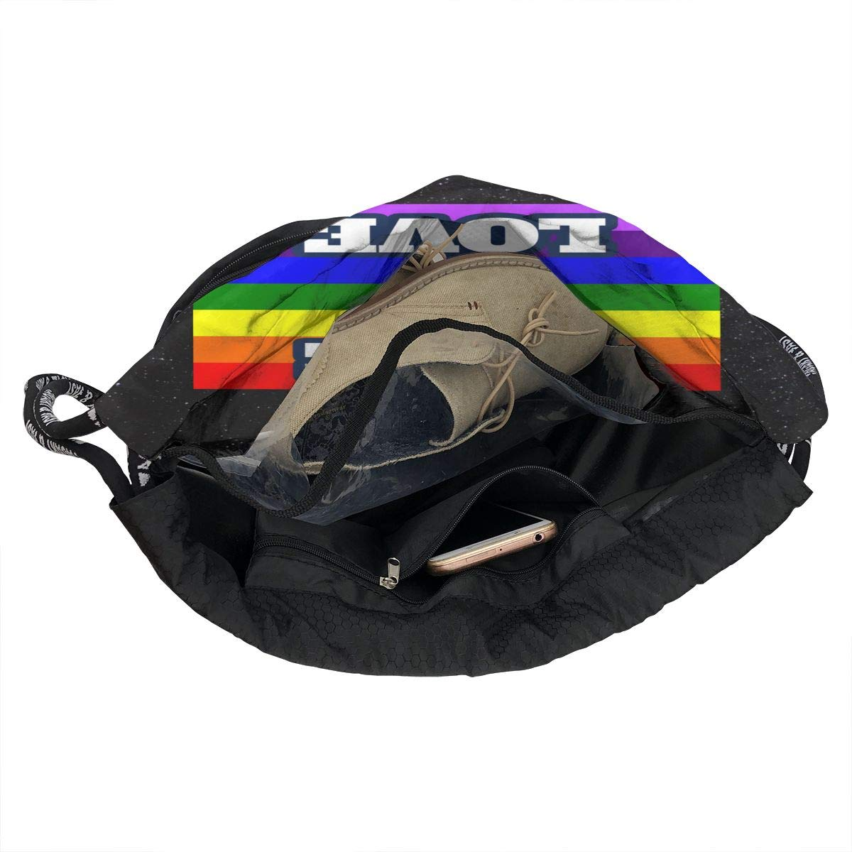 Xdfcvmalkwrj Unisex Mens Woman Love is Love Durable Beam Backpack Gift