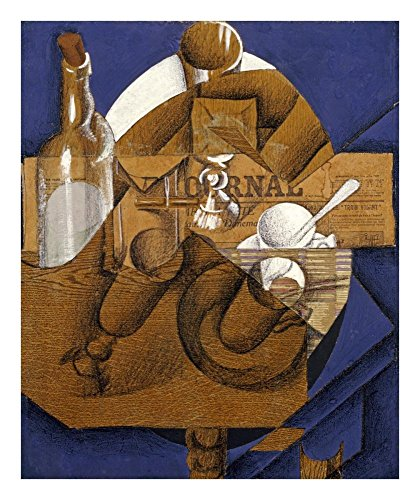 Verres Et Bouteille Le Journal - Global Gallery Art on a Budget Juan Gris Trasse Verres Et Bouteille (le Journal) Unframed Giclee on Paper Print, 22