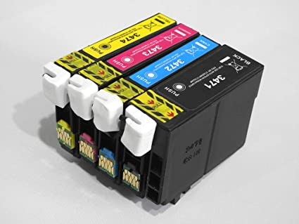 Pack de 4 Cartuchos de Tinta compatibles Epson T34 Serie de Pelota de Golf – para impresoras de inyección de Tinta Epson: Amazon.es: Oficina y papelería