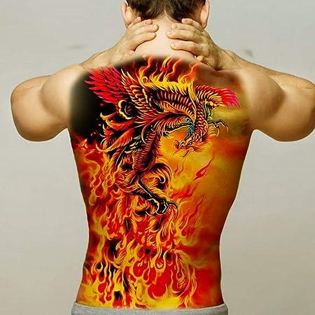 Handaxian 2pcs-Big Tigre Negro Tatuaje Lobo Tatuaje Impermeable ...