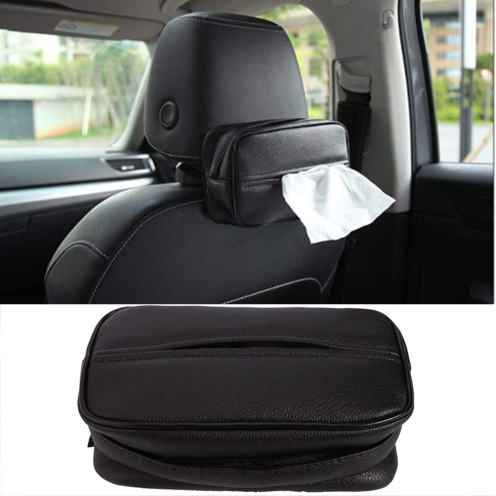 Car Kleenex Box PU Leather Backseat Tissue Box Organizer Storage for Car /& Truck Decoration Feileng Universal Car Tissue Holder