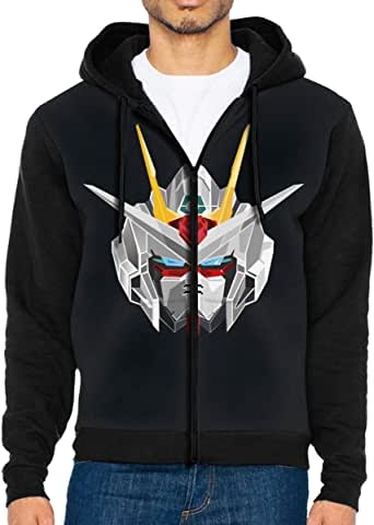 GanCheng Geek Zipper Hoodies Hood Gunda/_m Sweatshirt for Men