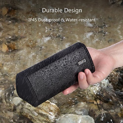 Bluetooth Speaker, MIFA A10 Wireless Portable TWS Speaker V4.2, 16-Hour Playtime, 10W HD Stereo & Bass, IP45 Dustproof Water-Resistant, Micro SD Card Slot, Built-in Mic Hands-Free Call