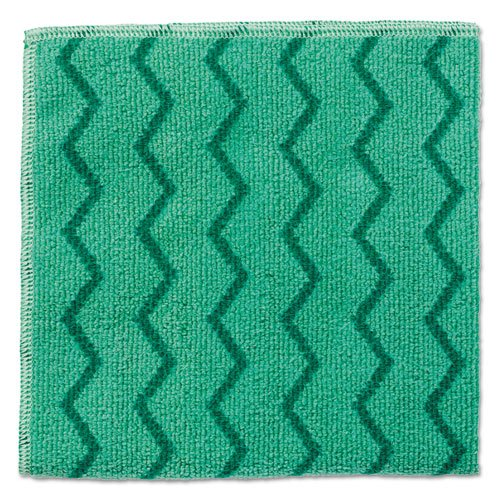 Rubbermaid Commercial HYGEN HYGEN Sanitizer Safe Foodservice Microfiber Cloth, 16 x 19, White/Green - Includes 288 reusable cloths. by Unknown