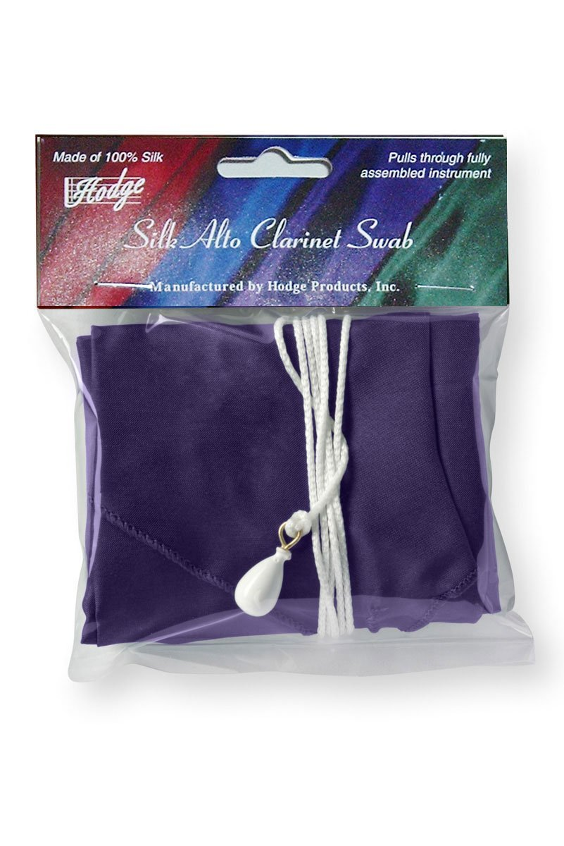 Hodge Silk Alto Clarinet Swab - Purple