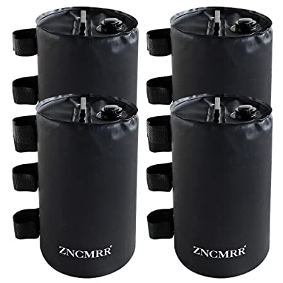 ZNCMRR Canopy Water Weight Bag Leg Weights for Pop Up Canopy, Tent, Gazebo, Set of 4, Black: Garden & Outdoor