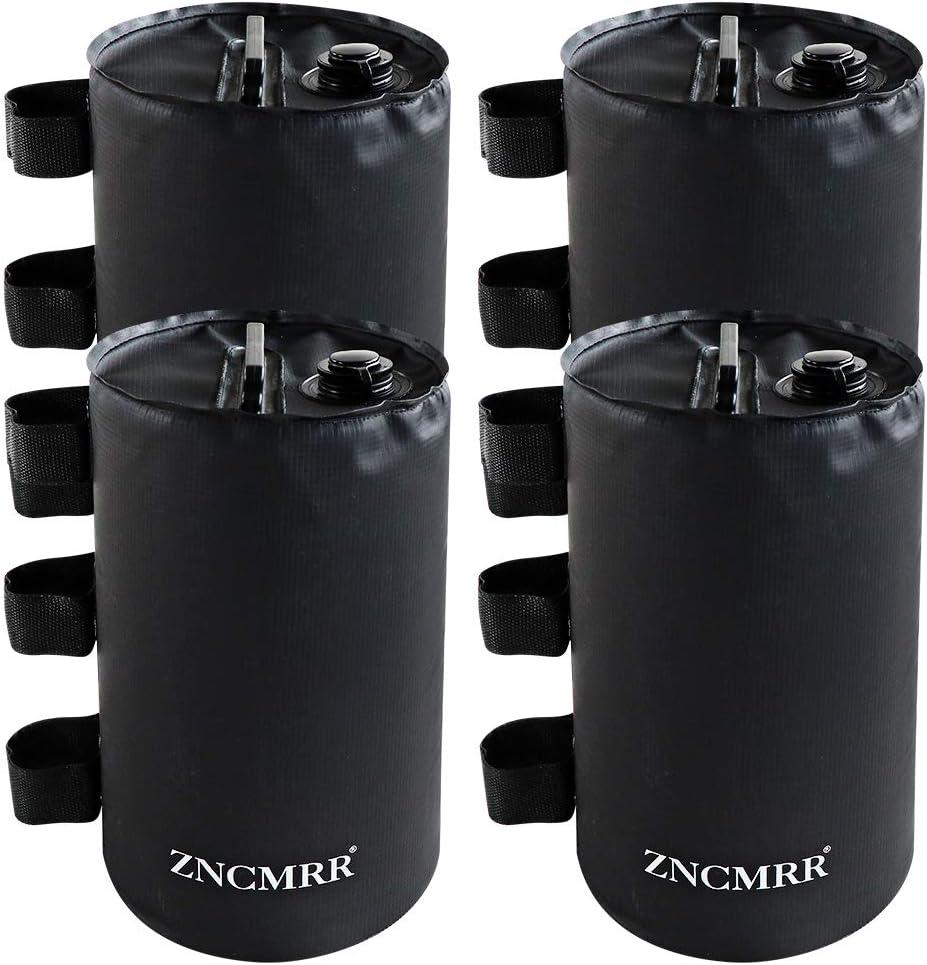 ZNCMRR Canopy Water Weight Bag Leg Weights for Pop Up Canopy, Tent, Gazebo, Set of 4, Black