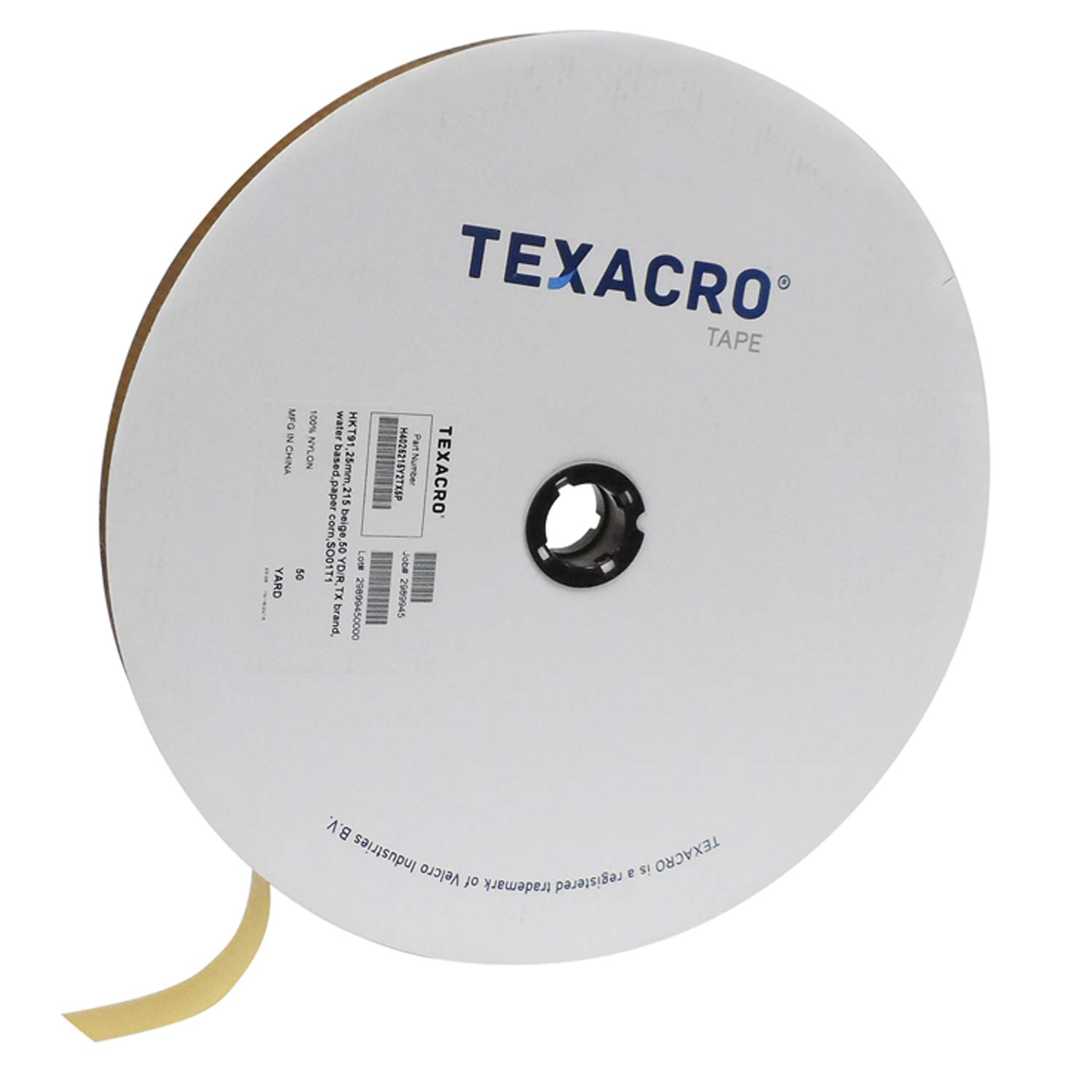 TEXACRO Brand Hook 70 2'' Beige Sew On - 50 Yard Roll by TEXACRO Brand