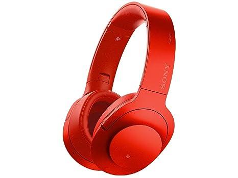 Sony MDR-100ABN Binaurale Diadema Rojo - Auriculares (Binaurale, 3.5 mm (1