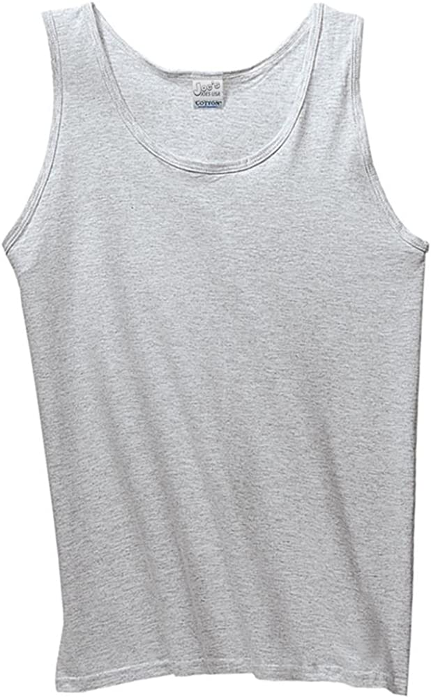 Joes USA 100/% Cotton Tank Tops in 16 Colors