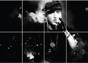 Doppelganger33 LTD Eminem Rapper Hip Hop Rnbpaper Wall Art Multi Panel Poster Print 47x33 inches