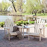 Coral Coast Hubbard Adirondack Chair Set with FREE Side Table - Natural