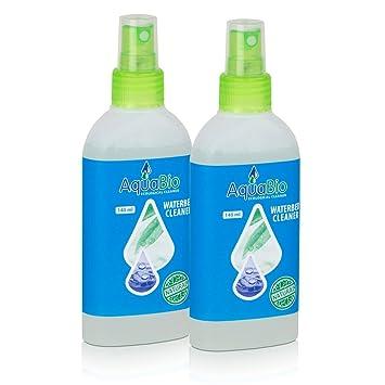 AquaBio Waterbed Cleaner - Limpiador de Vinilo para Cama de Agua colchones 140 ML (2 Unidades): Amazon.es: Hogar