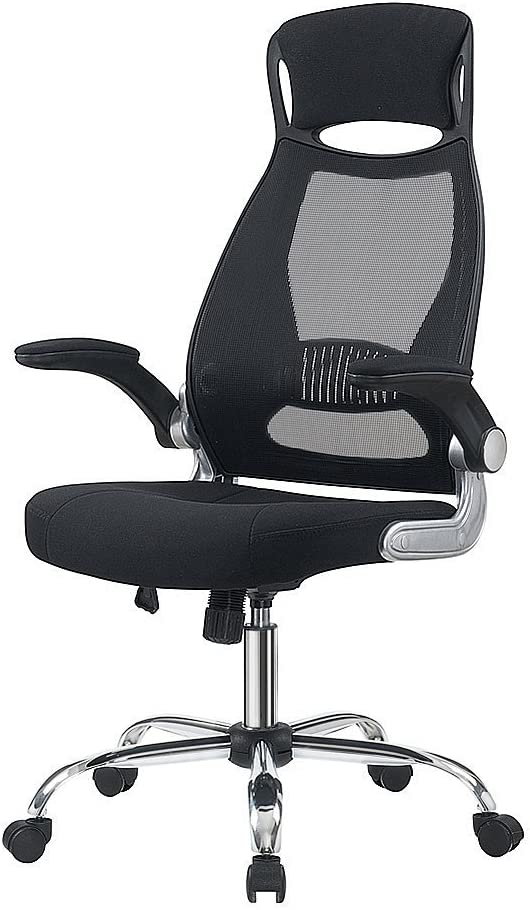 IntimaTe WM Heart Silla de Oficina giratoria con Respaldo Alto, ergonómica, inclinación, reposabrazos Plegables, Color Negro N03C