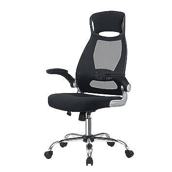 Chaise De Bureau En Maille Fauteuil Direction Siege Ergonomique Grande Taille Avec Accoudoirs Pliables Hauteur