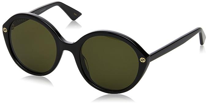 Gucci GG0023S, Gafas de Sol para Mujer, Negro (Black/Green ...