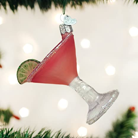 Amazon Com Old World Christmas Adult Beverages Glass Blown Ornaments For Christmas Tree Cosmopolitan Home Kitchen