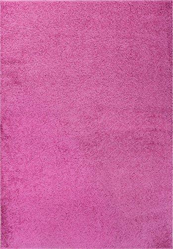 - Well Woven Madison Shag Plain Fuchsia Modern Solid Area Rug 5' X 7'2''