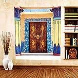 Gzhihine Custom tapestry Egyptian Decor Tapestry Illustration of Ancient God Sun Ra Old Egyptian Faith Grace Icons Traditional Pagan Print Bedroom Living Room Dorm Decor Multi