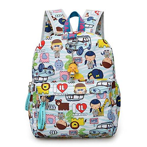 Dorapocket Children Harajuku Doll Cartoon Backpack Student Casual Travel Bag,Blue L -