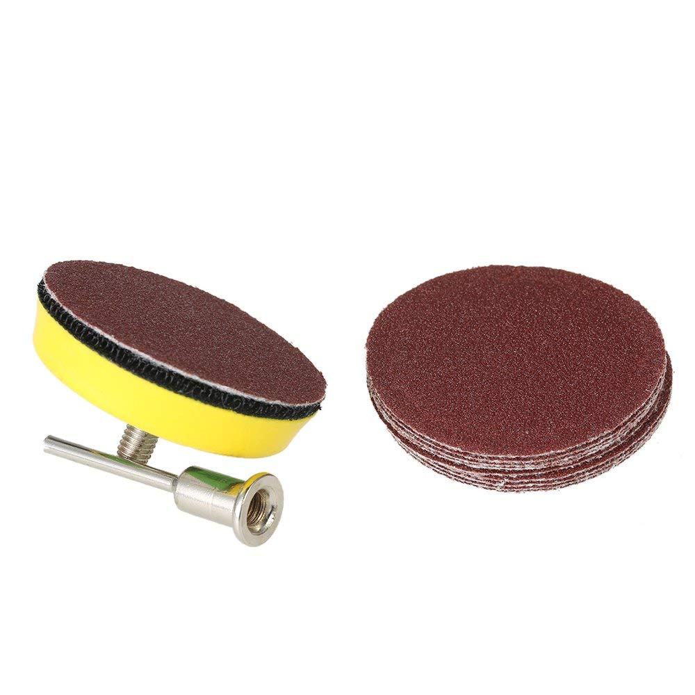 240 SODIAL 60 Pcs Sanding Paper Grinding Wheel with 50Mm Polishing Pad Adapter 1000 2000 for Dremel Rotary Tool Eccentric Grinder 800 Grits Grinding Pad Grit Paper 600 Size 100