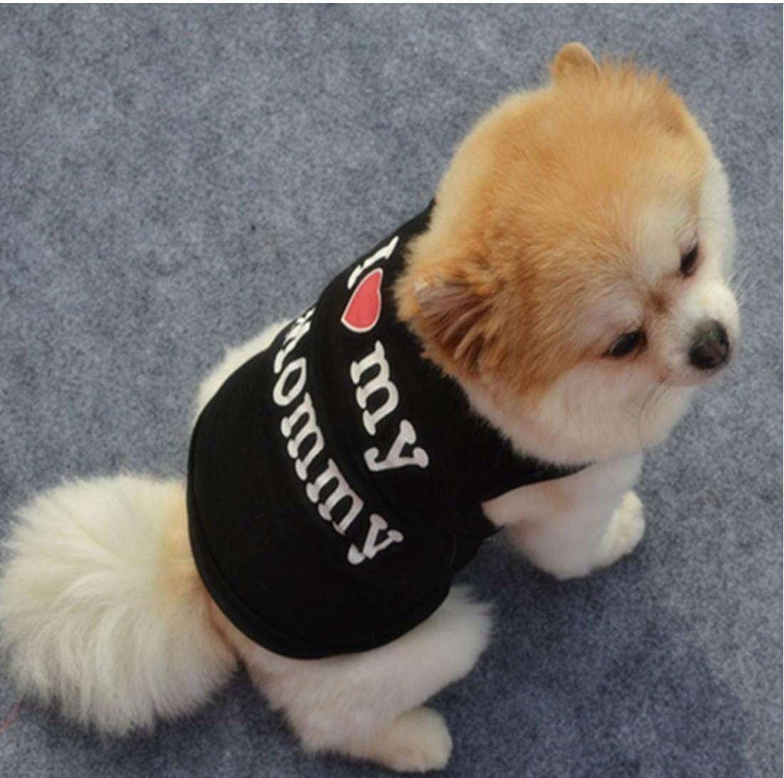 Bontand Precioso Perrito del Chaleco del Verano Camisa del Perro Camiseta De Secci/ón Ligera De Algod/ón para Perros Chaleco Camisetas Letters Ropa del Patr/ón