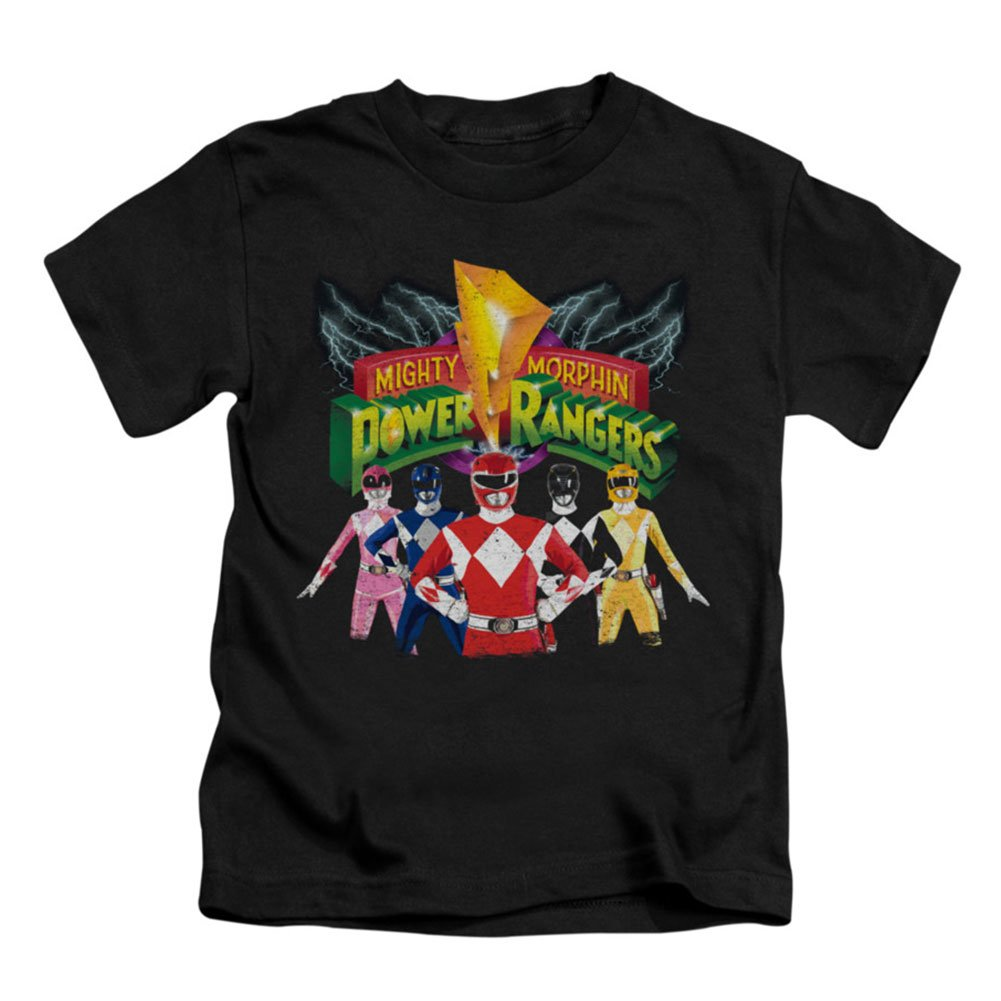 Mighty Morphin Power Rangers TV Series Rangers Unite Logo Little Boys T-Shirt T Trevco