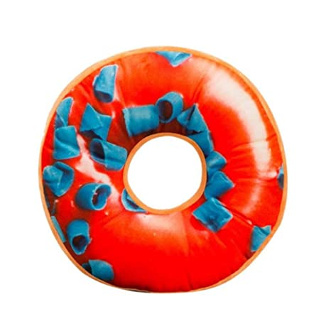 PAOLIAN Almohada De Felpa Suave CojíN De Asiento Relleno De Dulce Donut Funda De CojíN De Juguetes (K)