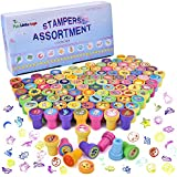 100Pcs Assorted Stamps All in One Box Including 100 Different Designs for Kids Birthday Party Supplies, Pinata Fillers, Kids Prizes, Stocking Stuffers