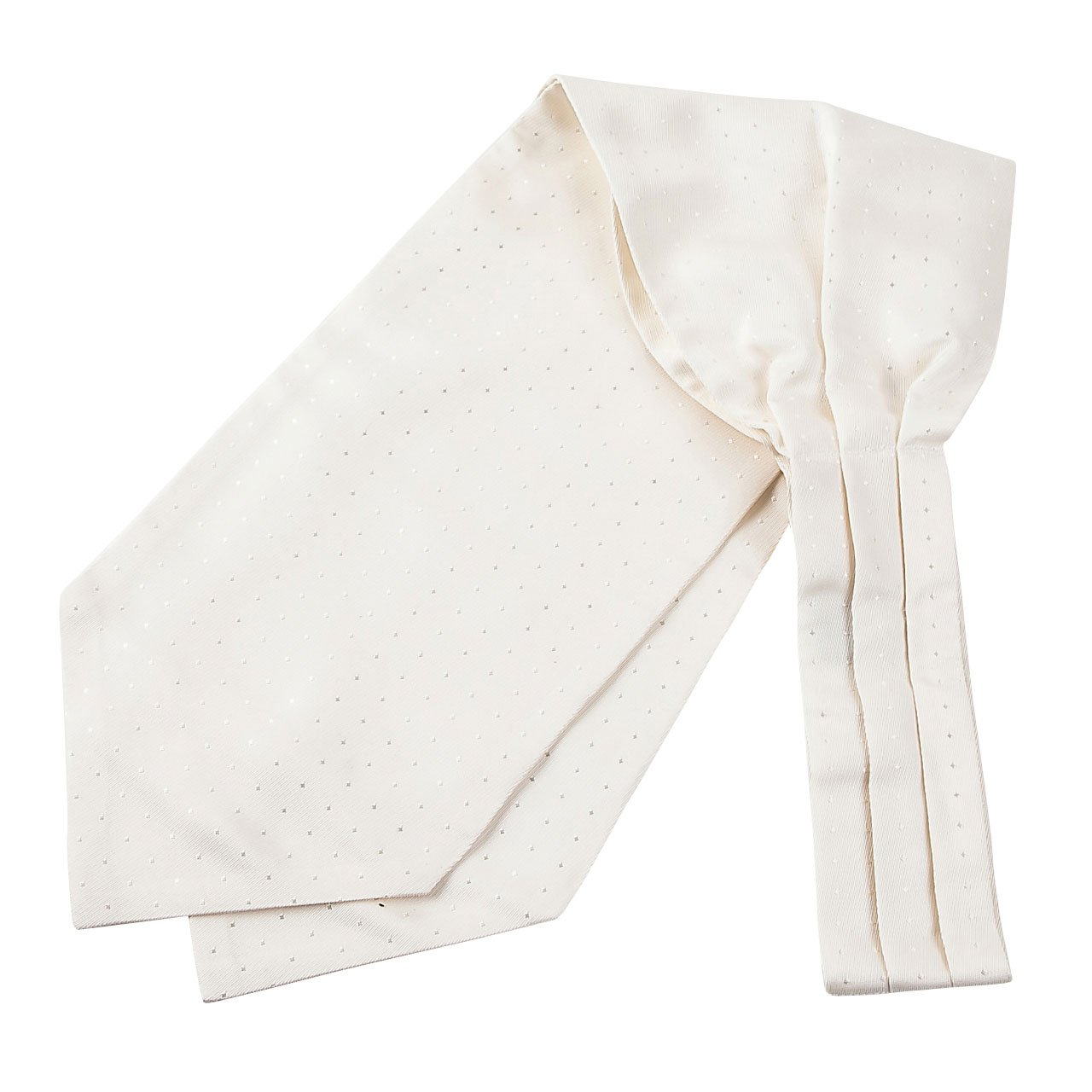 Ozie Made in Japan White Ascot Tie and Pocket Square Set
