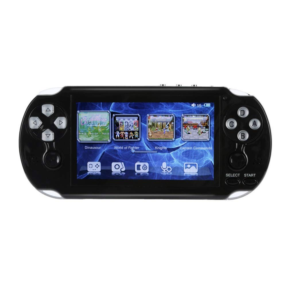 PSFS Handheld Game Console,Pap GAMETA 2 Plus 4.3'' Handheld Game Console 64 Bit Video Game Concole Port,Kids Gift for Ages 3+ Factory Outlet (Black)