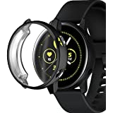 [2-Pack] Case Fit for Samsung Galaxy Watch Active, Heavy-Duty Shockproof Protective Cover Armor Guard Shield Saver, Lifetime Protection [Black]