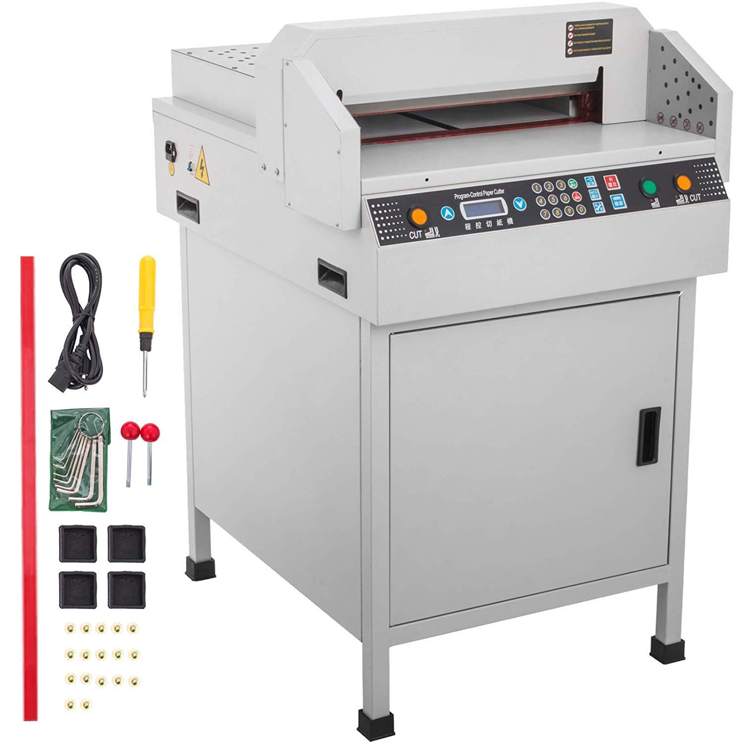 Superland 17.7 Inch Electric Paper Cutter 450mm Automatic Numerical Controlled Guillotine Paper Cutter Heavy Duty (450VS. Electric)