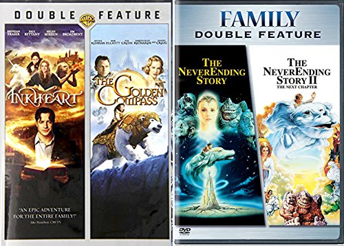 The NeverEnding Story & Inkheart + The Golden Compass DVD Set Classic Family Fantasy Movie Bundle 4 Film Feature