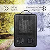 MroTech Portable Electric Heater 1500 Watt Space Heater with Overheat&Tip-Over Protection, Ceramic Heater with Adjustable Thermostat, Quiet Fan Heater Fast Heating for Office Desktop Table Home Dorm