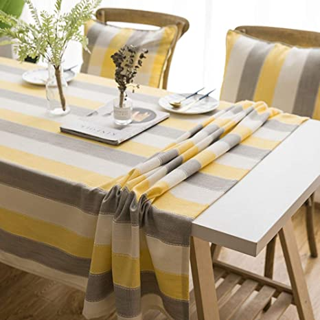 WESYY Mantel para Mesa de Cocina Polyester stripe01 130x130cm ...