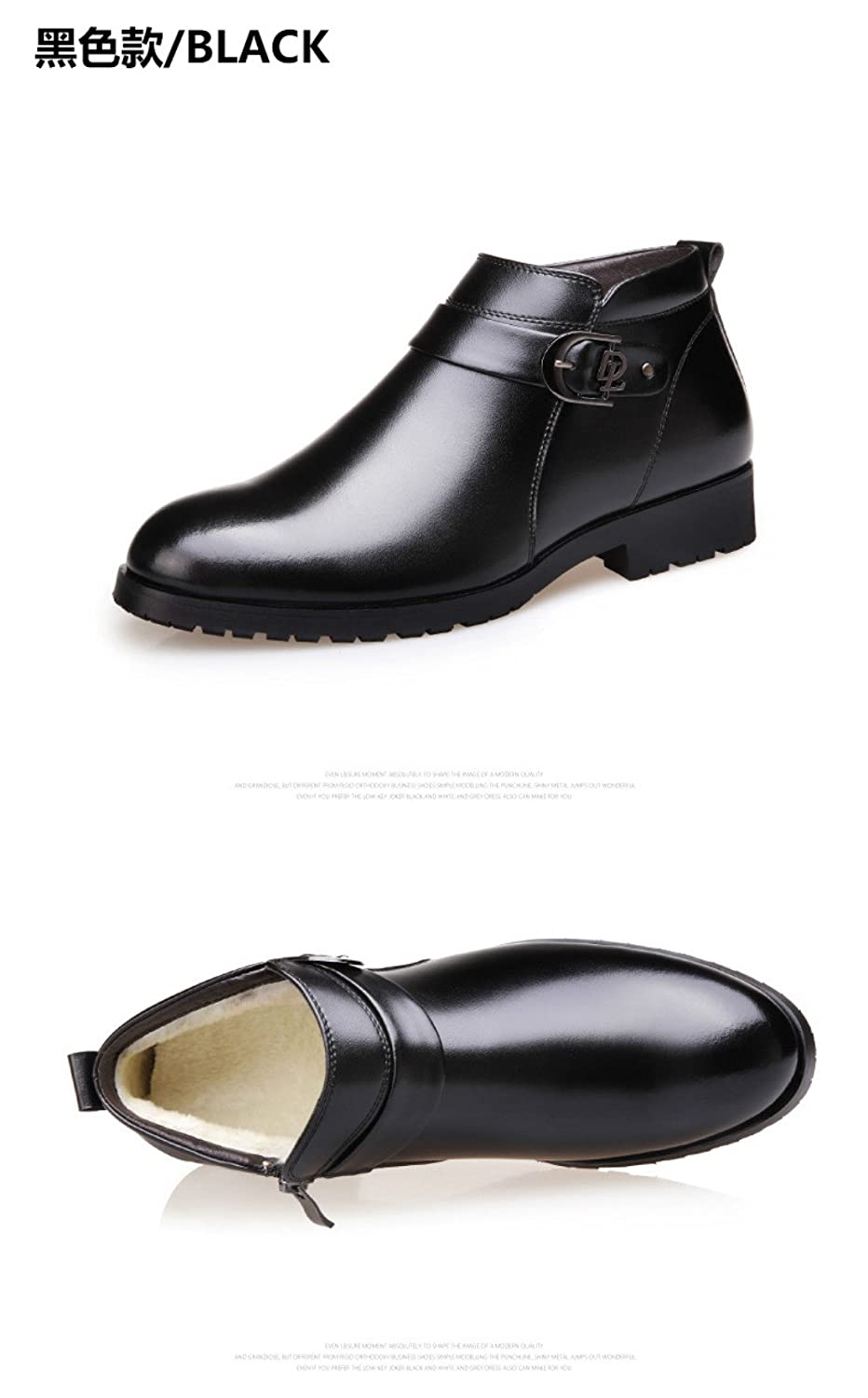 Winter New Mens Leather Boots Snow Boots with Velvet Warm Shoes Fashion Mens Boots Short Boots