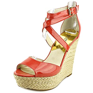 3bb6324695e Michael Kors Michael Gabriella Platform Wedge Sandals Watermelon 9.5