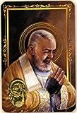 Padré Pio - Carte poinçon style médaille avec prière - Livraison gratuite