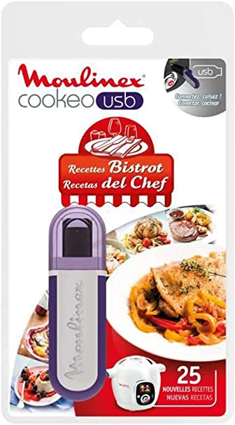 Moulinex Cookeo XA600411 - Llave flash USB con recetas, multicolor: Amazon.es: Hogar