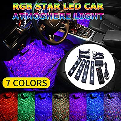 Star Sky 7 Colors Car Interior Lights with Multi-Mode Change