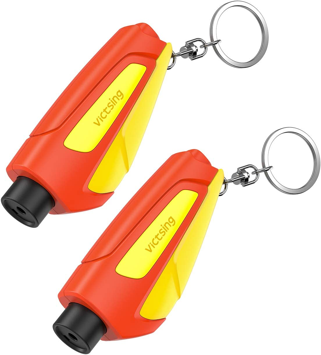Inc 05.300.02.05.09 Blue//Orange//Safety Yellow Keychain Car Escape Tool 4 Pack RESQME