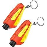 VicTsing Window Breaker Seatbelt Cutter, Portable Glass Breaker Keychain for Land & Underwater Emergency, Safety Car…