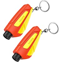 VicTsing Car Escape Tool Safety Seatbelt Cutter and Window Glass Breaker, Portable Keychain Rescue Tool for Land, Underwater Emergency, 2 Pack