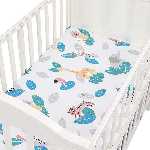 Vuffuw Sábanas de Cuna, 2Pack Super Suave Respirable Cuna sábanas Conjunto, 100% algodón Opcional Cama de bebé para la mayoría colchón de Cuna 70 x 130 x 22cm: Amazon.es: Hogar