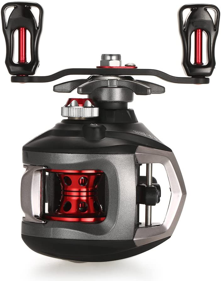 1 Hochgeschwindigkeits-Metallangelrolle Rotierende Angelrolle,Schwarz,1000 Series ZHXH Ultraleichter 1000-4000 Rotierende Angelrolle Maximale Widerstand 12Kg Angelrolle 5.2