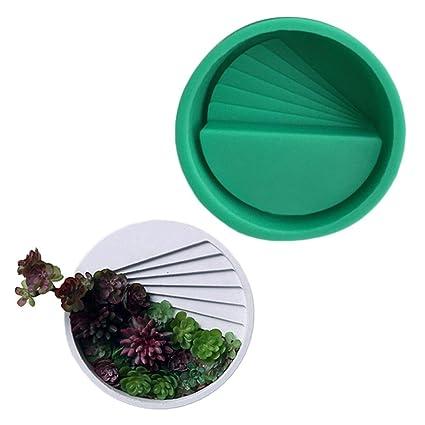 Ausomely Moldes de Silicona 3D - Molde para macetas de Flores DIY, Molde de Silicona