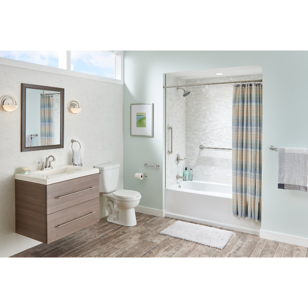 Delta Faucet DCL5916-BN Carlisle Decorative Bathroom Safety Grab Bar, 16 inch x 1 1/4